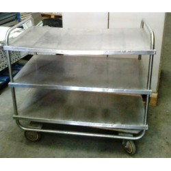 Inox kitchen trolley