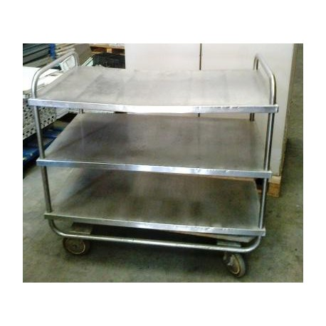 Inox kitchen trolley