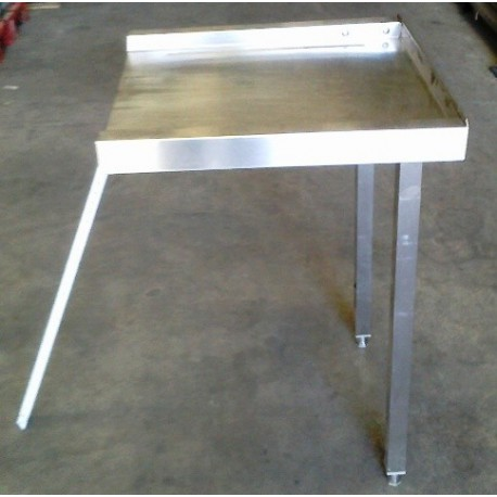 Inox table with dishwasher output