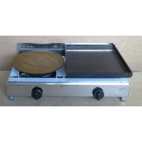 Iron gas griddle and crepe maker