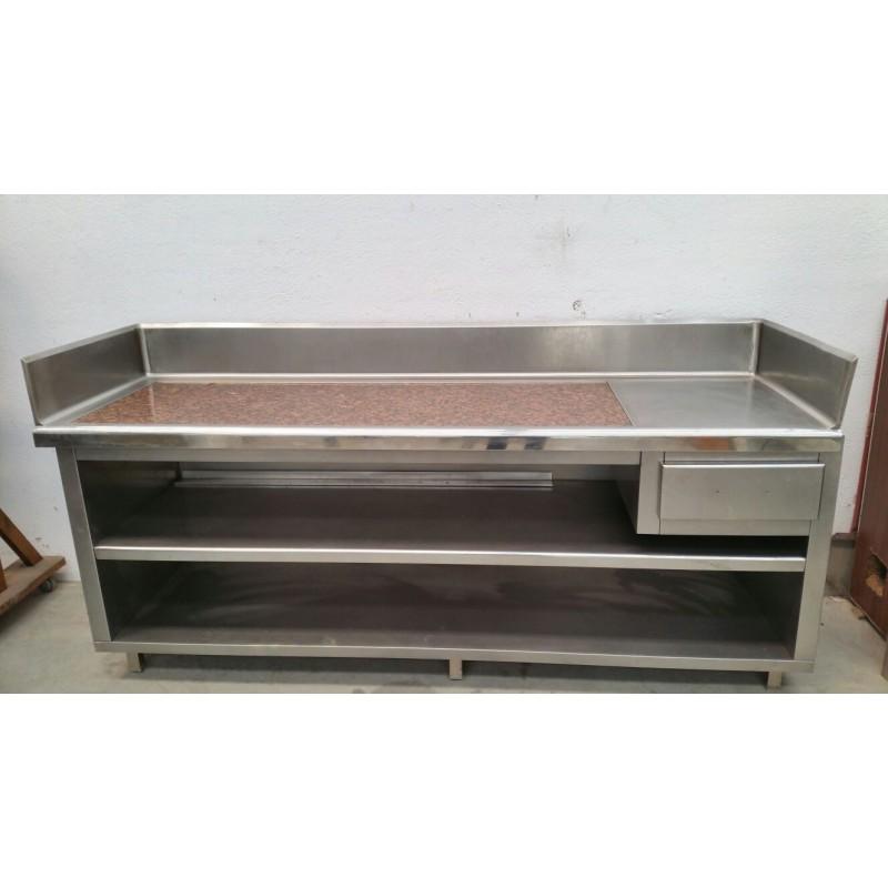 Mueble inox mesa inox ocasions quasidetot - Muebles de cocina inox ...